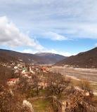 Montañas del Cáucaso de Georgia Foto de archivo libre de regalías