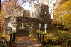 Montañas del castillo del ³ w de Bolczà - Rudawy Janowickie fotos de archivo libres de regalías