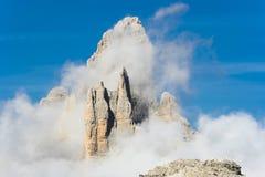 Montañas del Cime Lavaredo de Tre Imágenes de archivo libres de regalías