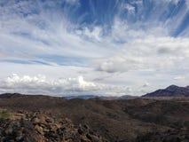 Montañas del desierto cerca de Yuma, AZ Fotos de archivo libres de regalías