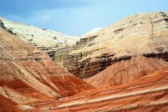 Montañas del desierto en Kazakhstan fotos de archivo