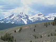Montañas del diente de sierra cerca de Stanley, Idaho A Fotografía de archivo libre de regalías