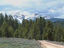 Montañas del diente de sierra cerca de Stanley, Idaho C Foto de archivo