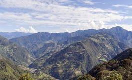 Montañas del este de Bhután Imagenes de archivo