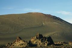 Montañas del fuego, Montanas del Fuego, Timanfaya.i Foto de archivo libre de regalías