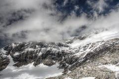 Montañas del glaciar de Molltaller Fotografía de archivo libre de regalías