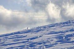 Montañas del invierno Fotografía de archivo
