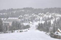 Montañas del invierno Imagenes de archivo