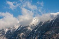 Montañas del invierno Imágenes de archivo libres de regalías