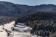 Montañas del invierno Imagen de archivo libre de regalías