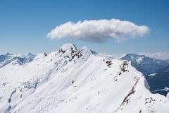 Montañas del invierno Fotografía de archivo libre de regalías