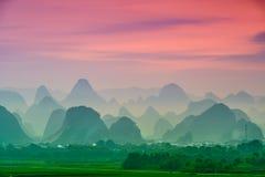 Montañas del karst de China foto de archivo libre de regalías