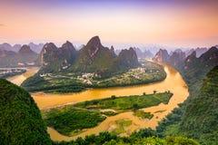 Montañas del karst de China foto de archivo