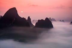 Montañas del karst de Guilin China fotos de archivo