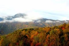 Montañas del norte de Carolina Appalachian en caída Fotografía de archivo