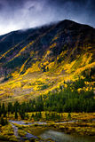 Montañas del oro Foto de archivo libre de regalías