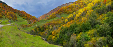 Montañas del otoño en Georgia fotos de archivo libres de regalías