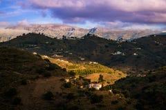Montañas del paisaje en Málaga Fotografía de archivo