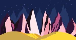 Montañas del paisaje del espacio en un planeta distante libre illustration