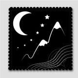 Montañas del sello (negro) Fotos de archivo