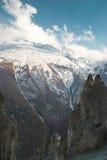 Montañas del tibetano Nevado Imagen de archivo