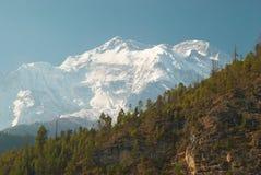 Montañas del tibetano Nevado Imagen de archivo libre de regalías