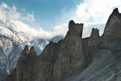 Montañas del tibetano Nevado Fotografía de archivo libre de regalías