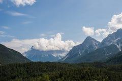 Montañas del Tyrol del sur Foto de archivo