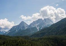 Montañas del Tyrol del sur Foto de archivo libre de regalías