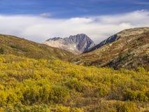Montañas del Yukón imagenes de archivo