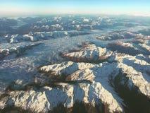 Montañas desde arriba Imágenes de archivo libres de regalías