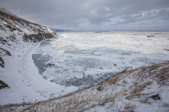 Montañas e invierno de Sajalín Fotos de archivo libres de regalías