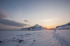 Montañas e invierno de Sajalín foto de archivo libre de regalías