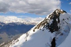 Montañas el Cáucaso Imágenes de archivo libres de regalías