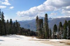 Montañas el Cáucaso Foto de archivo libre de regalías
