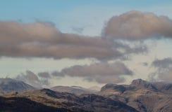 Montañas en Ambelside, CUmbria Foto de archivo libre de regalías