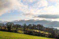Montañas en Ambelside Cumbria Imagen de archivo