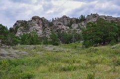 montañas en bayanaul Foto de archivo libre de regalías