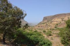 Montañas en Cabo Verde Imagen de archivo