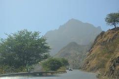 Montañas en Cabo Verde Fotos de archivo