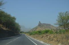 Montañas en Cabo Verde Foto de archivo