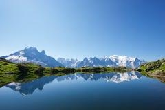 Montañas en Chamonix Imagenes de archivo