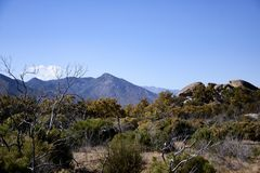 Montañas en coto indio Foto de archivo libre de regalías