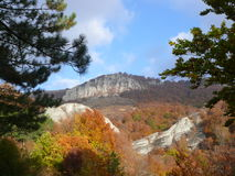 Montañas en el 3 de octubre Fotos de archivo
