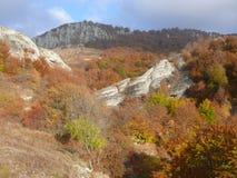 Montañas en el 4 de octubre Imagen de archivo libre de regalías