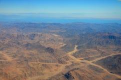 Montañas en el desierto de Egipto foto de archivo