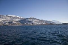 Montañas en el invierno Foto de archivo libre de regalías
