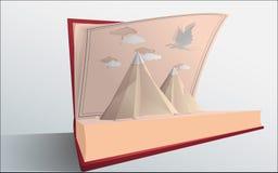 Montañas en el libro Fotos de archivo libres de regalías