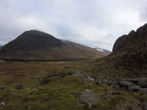Montañas en el parque nacional de Snowdonia Foto de archivo