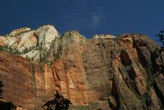 Montañas en el parque nacional de Zion, Utah Fotografía de archivo